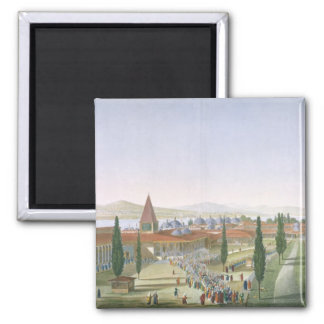 View of the Inner Courtyard of the Seraglio, Topka Refrigerator Magnets