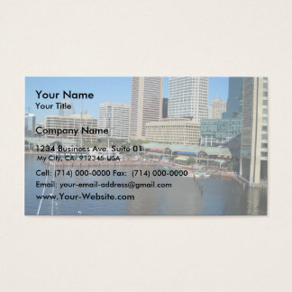 View Of The Inner Harbour Area At Baltimore, Md. Business Card
