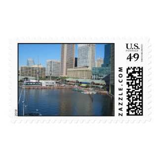 View Of The Inner Harbour Area At Baltimore, Md. Postage