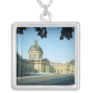 View of the Institut de France from the Quai Square Pendant Necklace