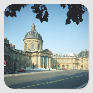 View of the Institut de France from the Quai Square Sticker