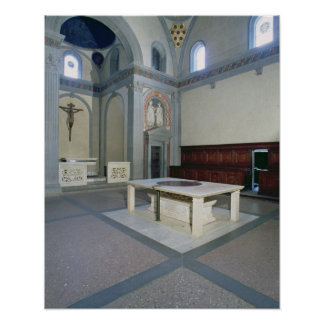 View of the interior, built c.1420-29 (photo) poster