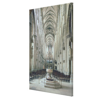 View of the interior looking east, begun 1230 canvas print