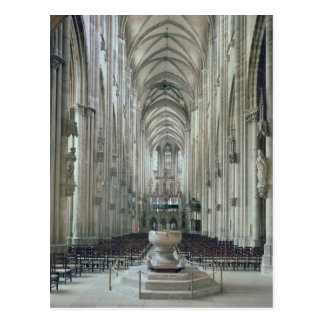 View of the interior looking east, begun 1230 postcard