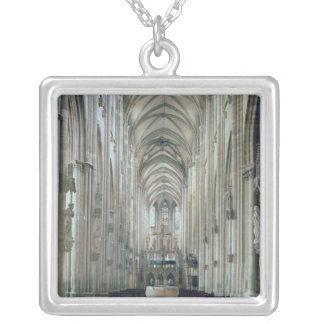 View of the interior looking east, begun 1230 silver plated necklace