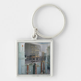 View of the interior of the Cavaillon Silver-Colored Square Keychain