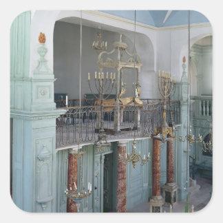 View of the interior of the Cavaillon Square Sticker