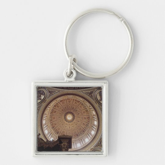 View of the interior of the dome keychain