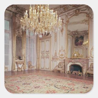 View of the interior of the Grand Salon Square Sticker