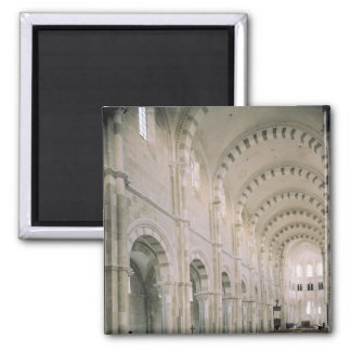 View of the interior of the nave, 12th century 2 inch square magnet