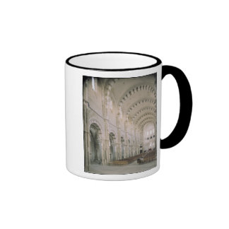 View of the interior of the nave, 12th century coffee mug