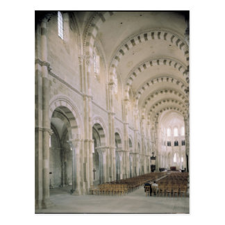 View of the interior of the nave, 12th century postcard