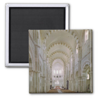 View of the interior of the nave, c.1120-50 2 inch square magnet