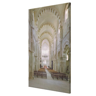 View of the interior of the nave, c.1120-50 canvas print
