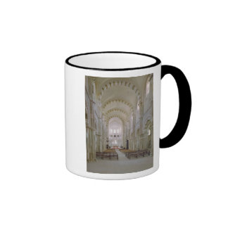 View of the interior of the nave, c.1120-50 coffee mugs