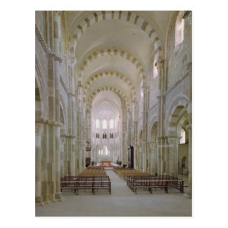View of the interior of the nave, c.1120-50 postcard