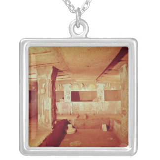View of the Interior of the Tomb Silver Plated Necklace