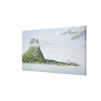 View of the Island of Bora Bora, from 'Voyage auto Canvas Prints