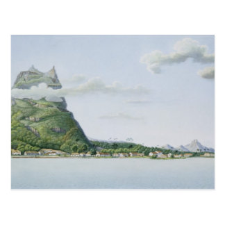 View of the Island of Bora Bora, from 'Voyage auto Postcard