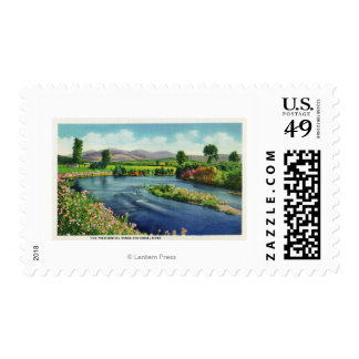 View of the Israel River & the Presidential Rang Postage