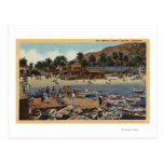 View of the Isthmus Harbor w/ Swimmers Post Card