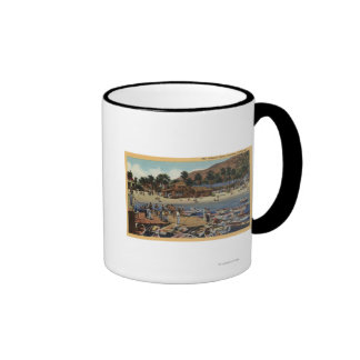 View of the Isthmus Harbor w/ Swimmers Ringer Mug