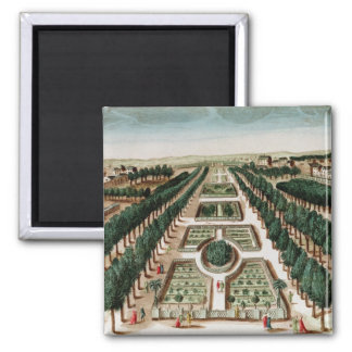 View of the Jardin des Plantes 2 Inch Square Magnet