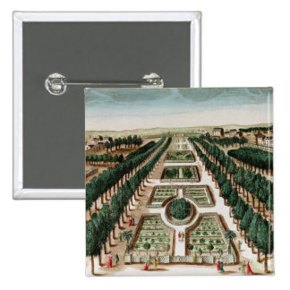 View of the Jardin des Plantes 2 Inch Square Button