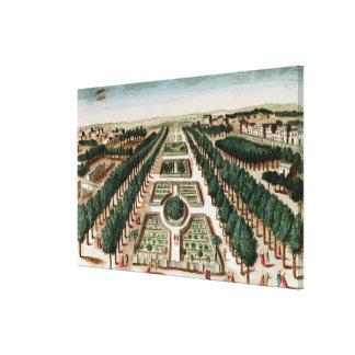 View of the Jardin des Plantes Canvas Print
