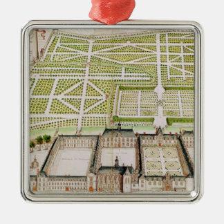 View of the Jesuit College in La Fleche, 1655 Metal Ornament