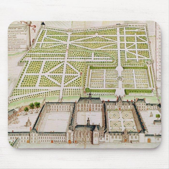 View of the Jesuit College in La Fleche, 1655 Mouse Pad