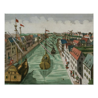 View of the Kettel Gate in Delft (engraving) Poster