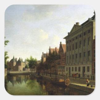 View of the Kloveniersburgwal in Amsterdam Sticker