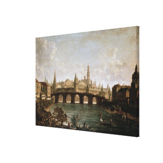 View of the Kremlin and the Kamenny Bridge Canvas Print