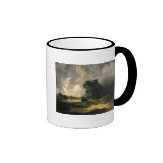 View of the Kremlin in Bad Weather, 1851 Ringer Mug