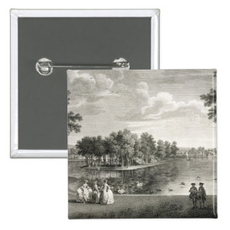 View of the Lake from the Centre Walk in the garde Pinback Button