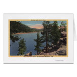 View of the Lake through the Pines Greeting Card