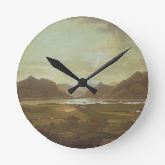 View of the Lakes and Mountains of Killarney, Irel Round Clock