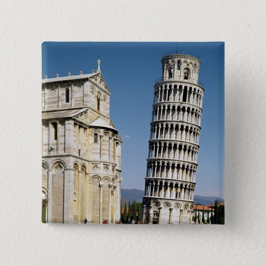 View of the Leaning Tower Pinback Button