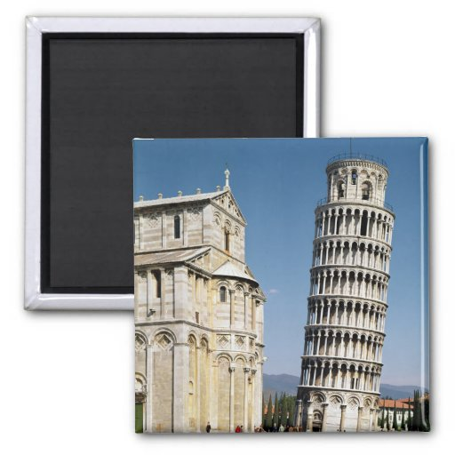 View of the Leaning Tower Refrigerator Magnets