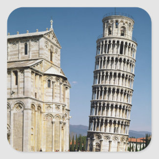 View of the Leaning Tower Square Sticker