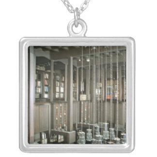 View of the library, built 1897-99 silver plated necklace