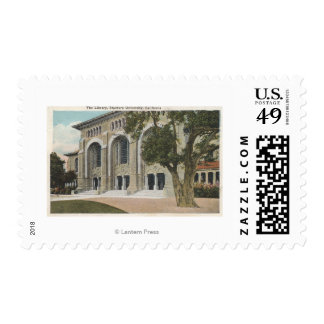 View of the Library University Postage Stamps