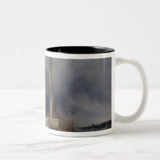 View of the Lighthouse at Gatteville Two-Tone Coffee Mug