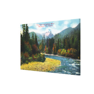 View of the Lions and Capilano River Canvas Print