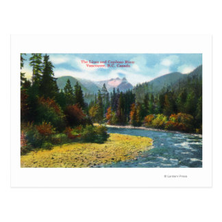 View of the Lions and Capilano River Postcard