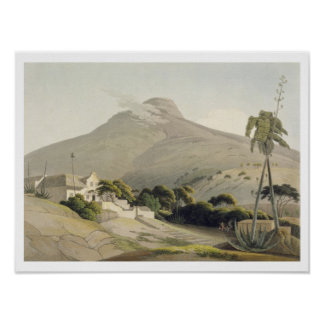 View of the Lion's Head, plate 28 from 'African Sc Poster