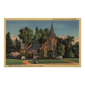 View of the Little Church of the Flowers Poster
