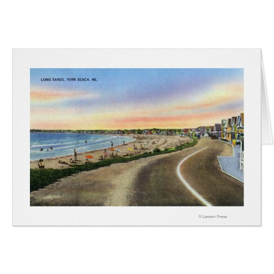 View of the Long Sands at York Beach Card