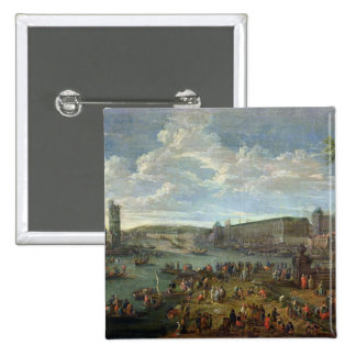 View of the Louvre and the Tour de Nesles Buttons